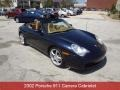 Midnight Blue Metallic 2002 Porsche 911 Carrera Cabriolet