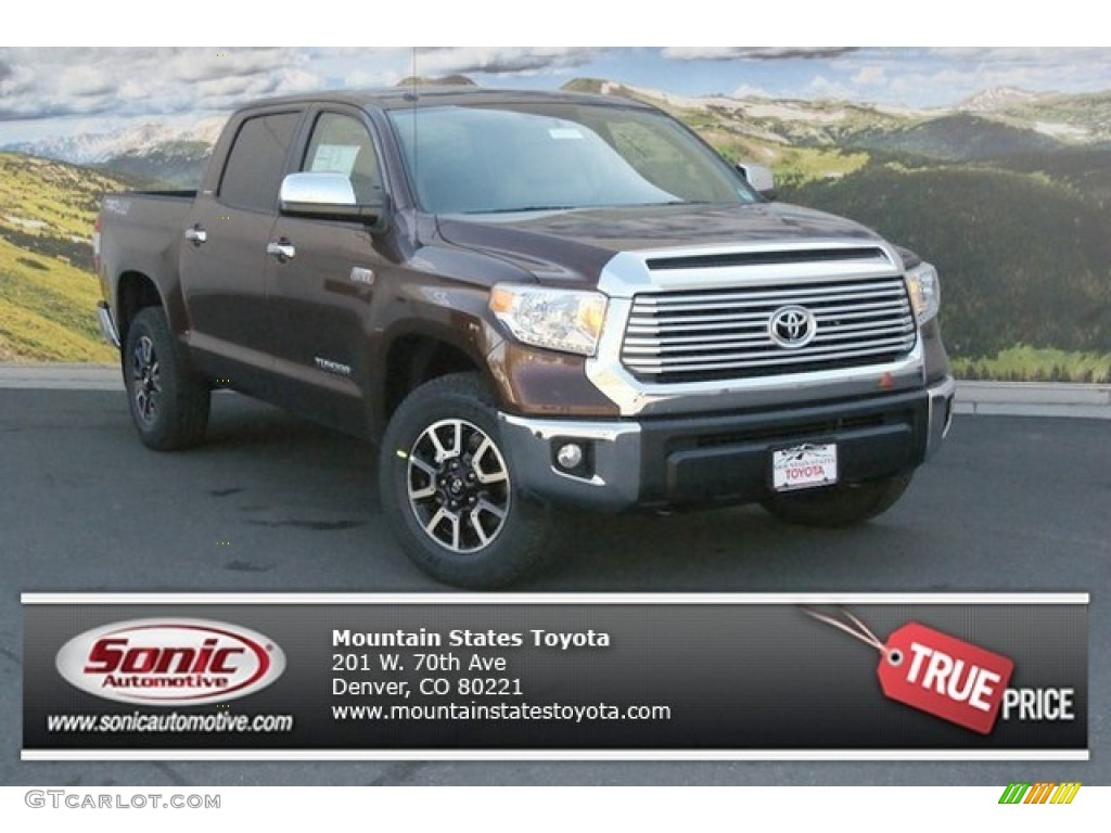 2014 Tundra Limited Crewmax 4x4 - Sunset Bronze Mica / Graphite photo #1
