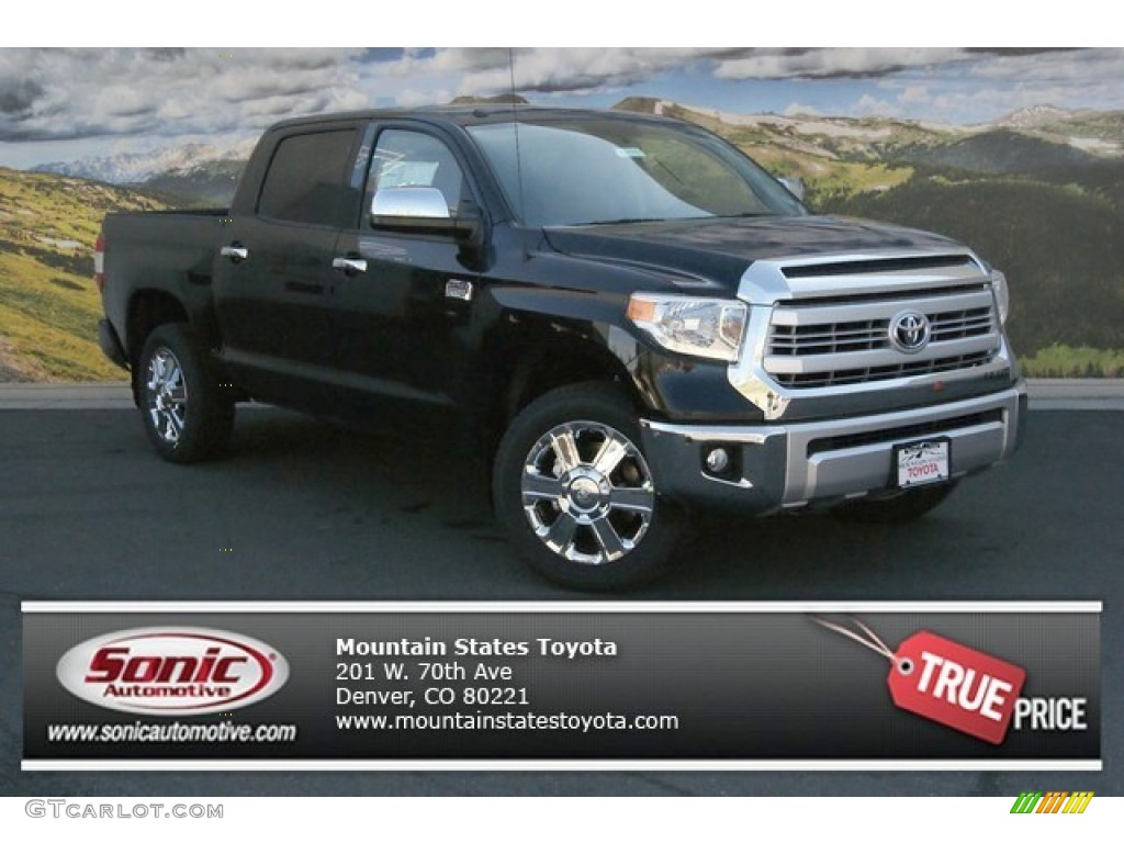 2014 Tundra 1794 Edition Crewmax 4x4 - Attitude Black Metallic / 1794 Edition Premium Brown photo #1