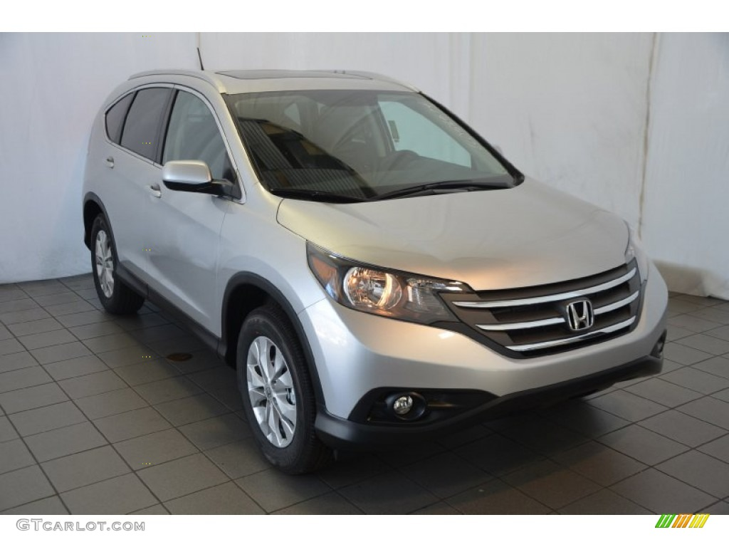 2014 CR-V EX-L - Alabaster Silver Metallic / Black photo #1