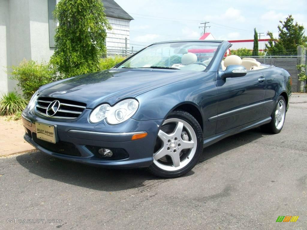 2004 cadet blue metallic mercedes benz clk 500 cabriolet for 2004 mercedes benz clk 500