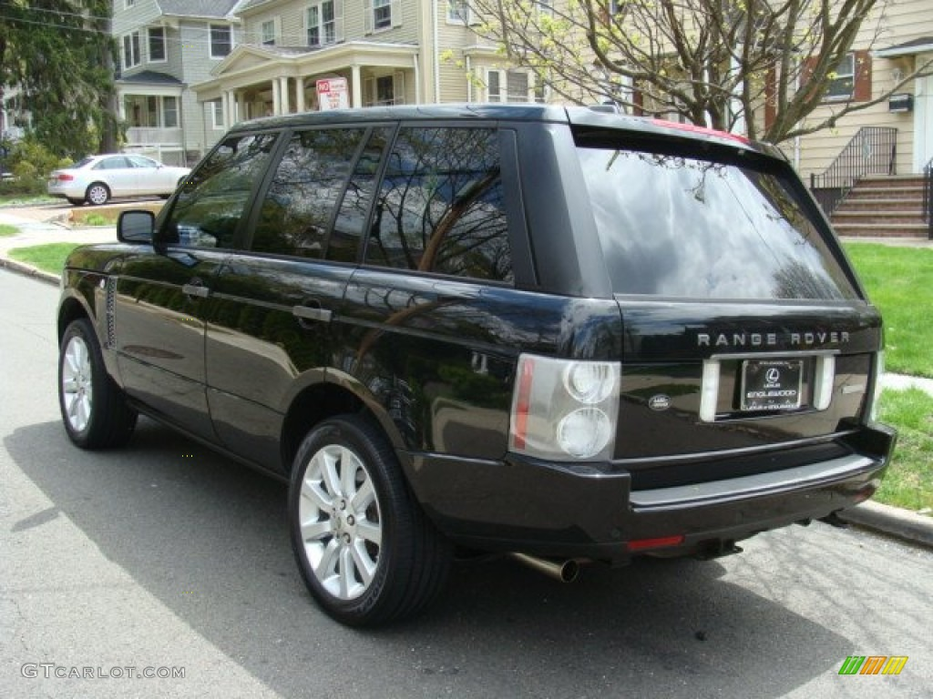2006 Range Rover Supercharged - Java Black Pearl / Charcoal/Jet photo #6