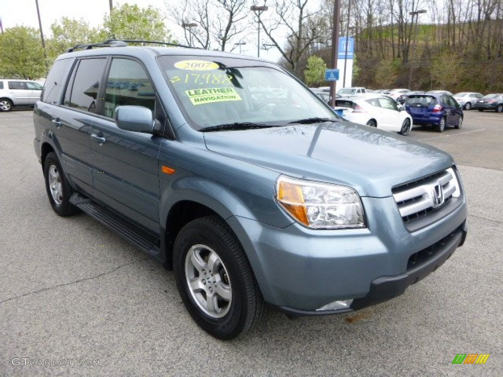 Steel Blue Metallic 2007 Honda Pilot Ex L 4wd Exterior Photo 93196849 Gtcarlot Com