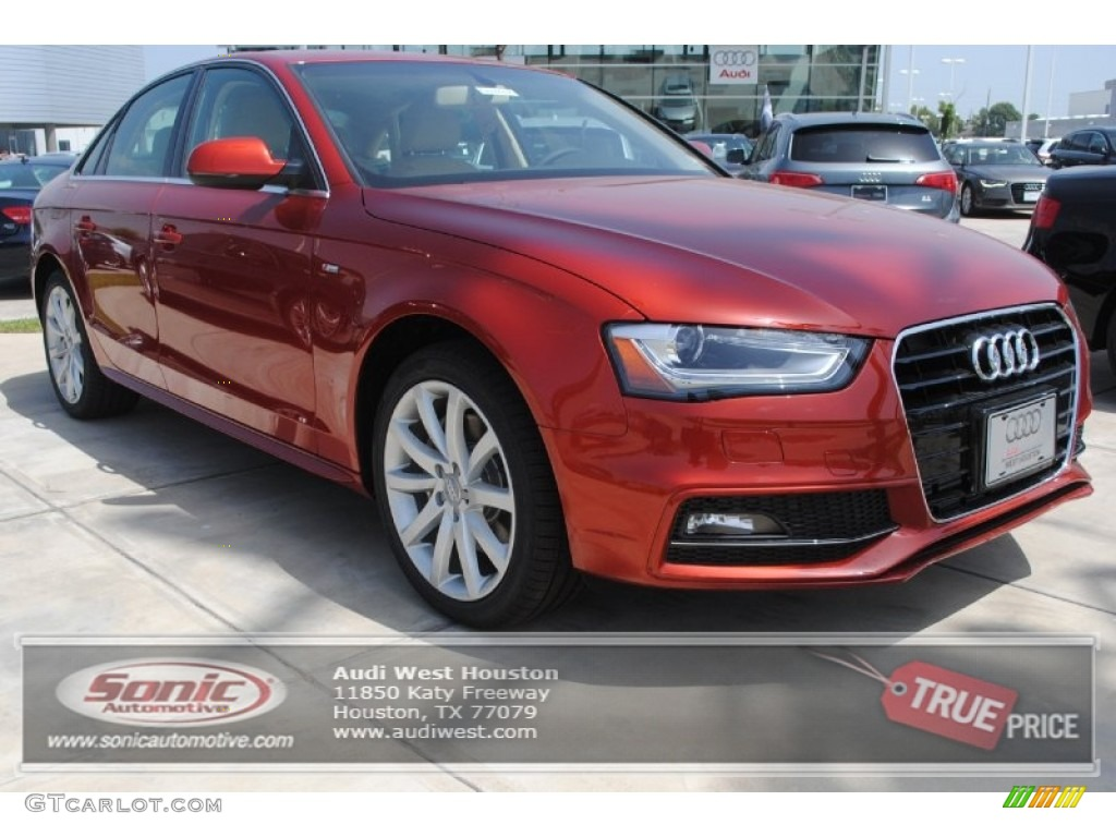 2014 volcano red metallic audi a4 2 0t sedan 93197637 car color galleries. Black Bedroom Furniture Sets. Home Design Ideas