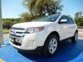White Platinum Metallic Tri-Coat 2012 Ford Edge SEL