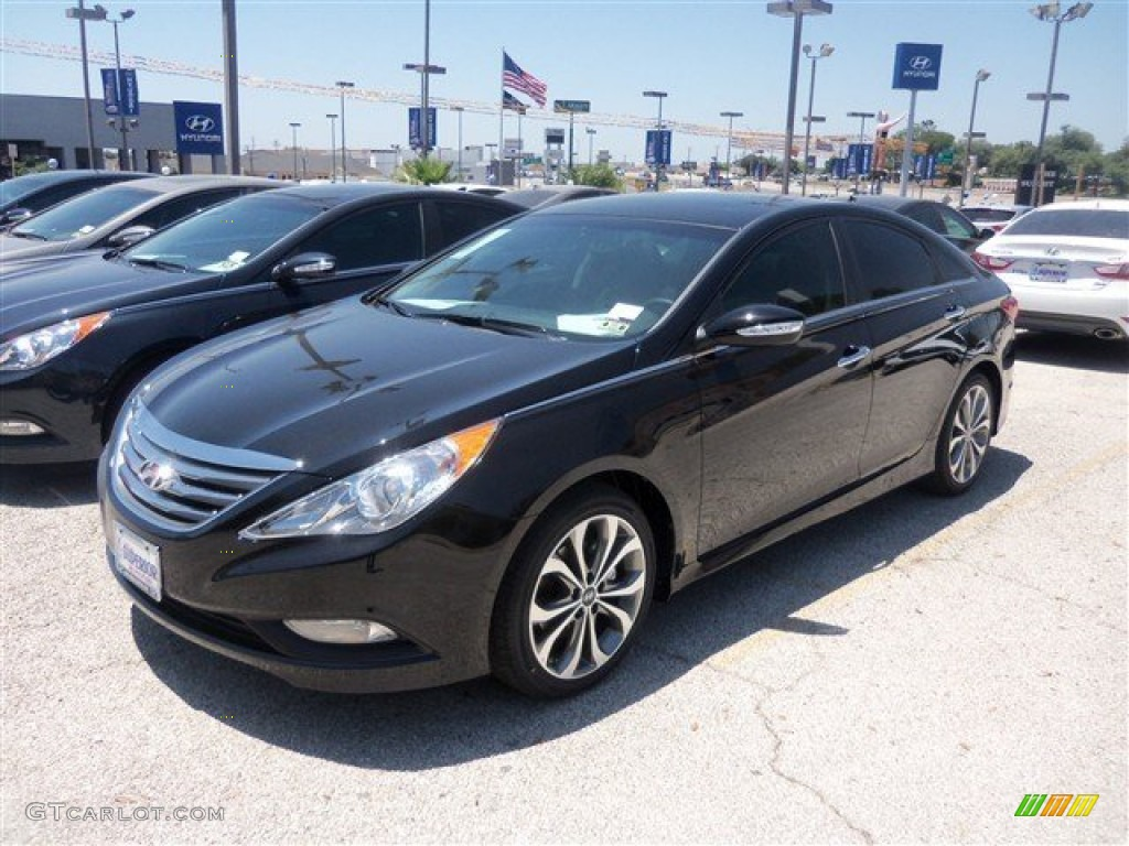 2014 Phantom Black Metallic Hyundai Sonata Se 93245655