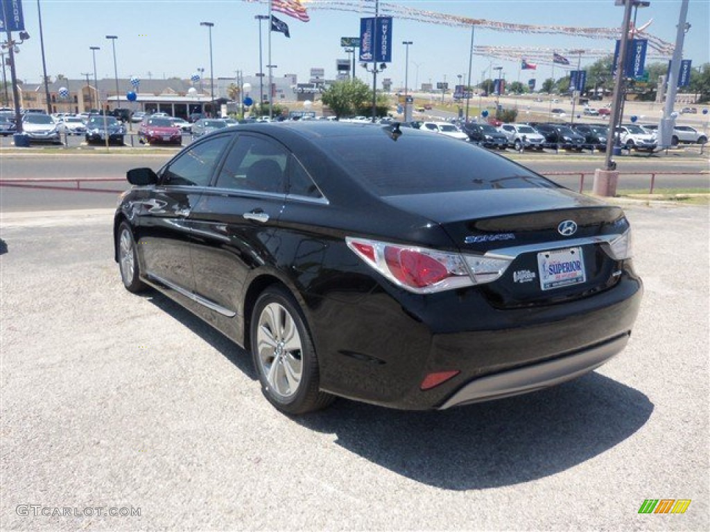 2014 eclipse black hyundai sonata hybrid limited 93245650