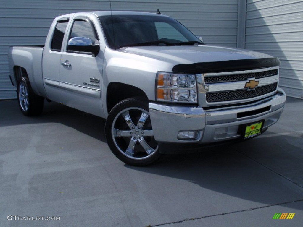 2013 Silverado 1500 LT Extended Cab - Silver Ice Metallic / Light Titanium/Dark Titanium photo #1