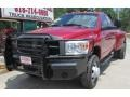 2008 Inferno Red Crystal Pearl Dodge Ram 3500 SLT Quad Cab 4x4 Dually  photo #1