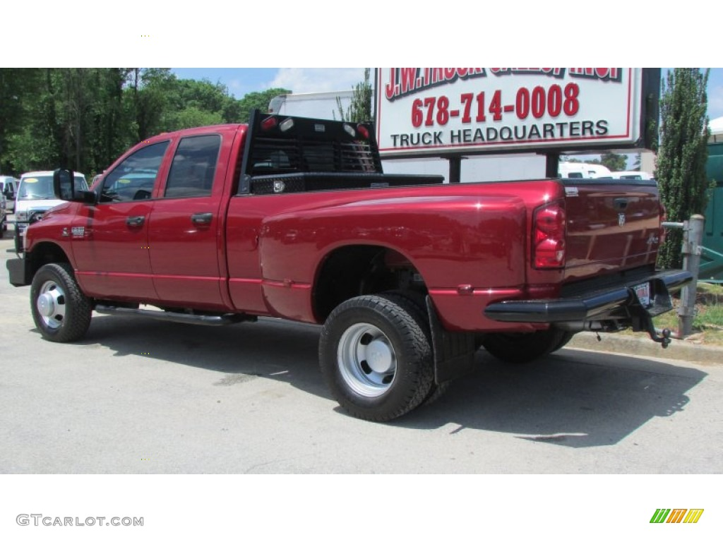 2008 Ram 3500 SLT Quad Cab 4x4 Dually - Inferno Red Crystal Pearl / Medium Slate Gray photo #4