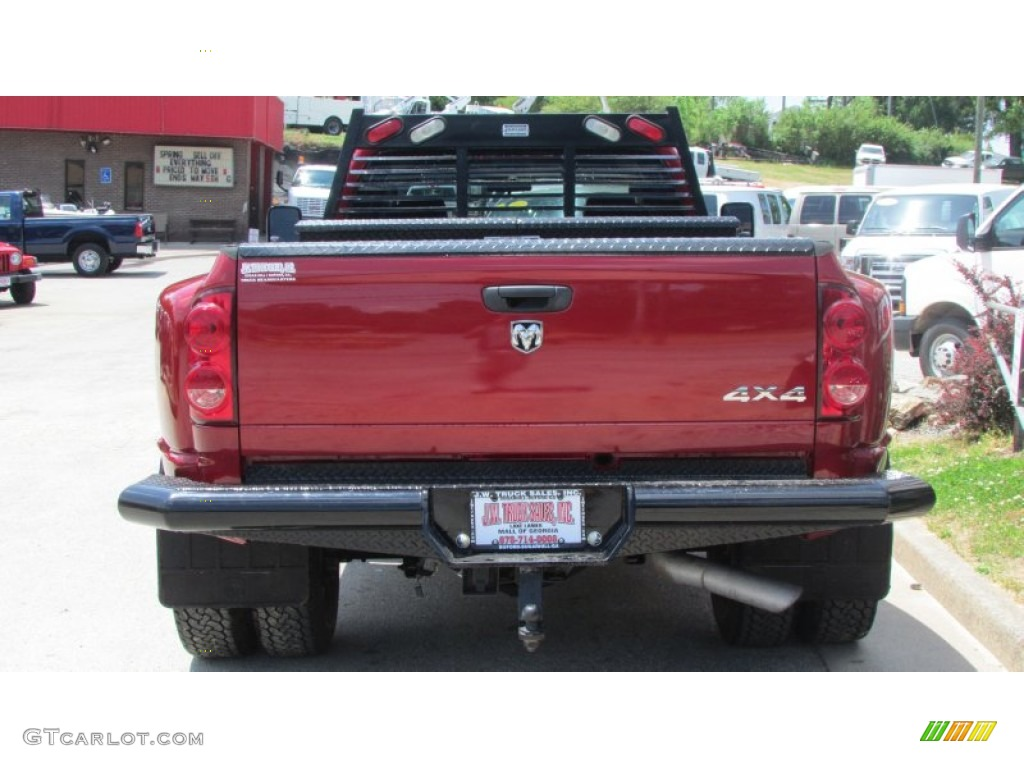 2008 Ram 3500 SLT Quad Cab 4x4 Dually - Inferno Red Crystal Pearl / Medium Slate Gray photo #5