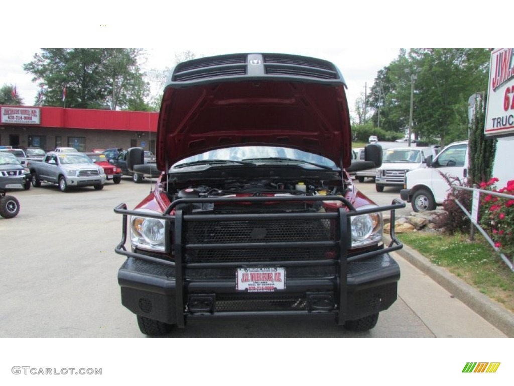 2008 Ram 3500 SLT Quad Cab 4x4 Dually - Inferno Red Crystal Pearl / Medium Slate Gray photo #17