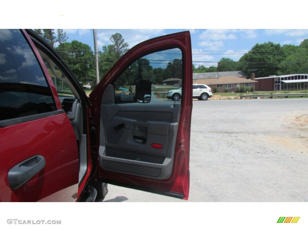 2008 Ram 3500 SLT Quad Cab 4x4 Dually - Inferno Red Crystal Pearl / Medium Slate Gray photo #30