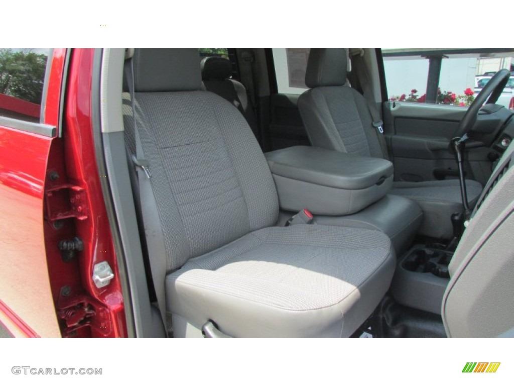 2008 Ram 3500 SLT Quad Cab 4x4 Dually - Inferno Red Crystal Pearl / Medium Slate Gray photo #33
