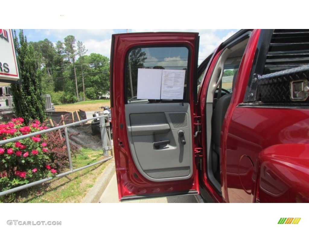 2008 Ram 3500 SLT Quad Cab 4x4 Dually - Inferno Red Crystal Pearl / Medium Slate Gray photo #66