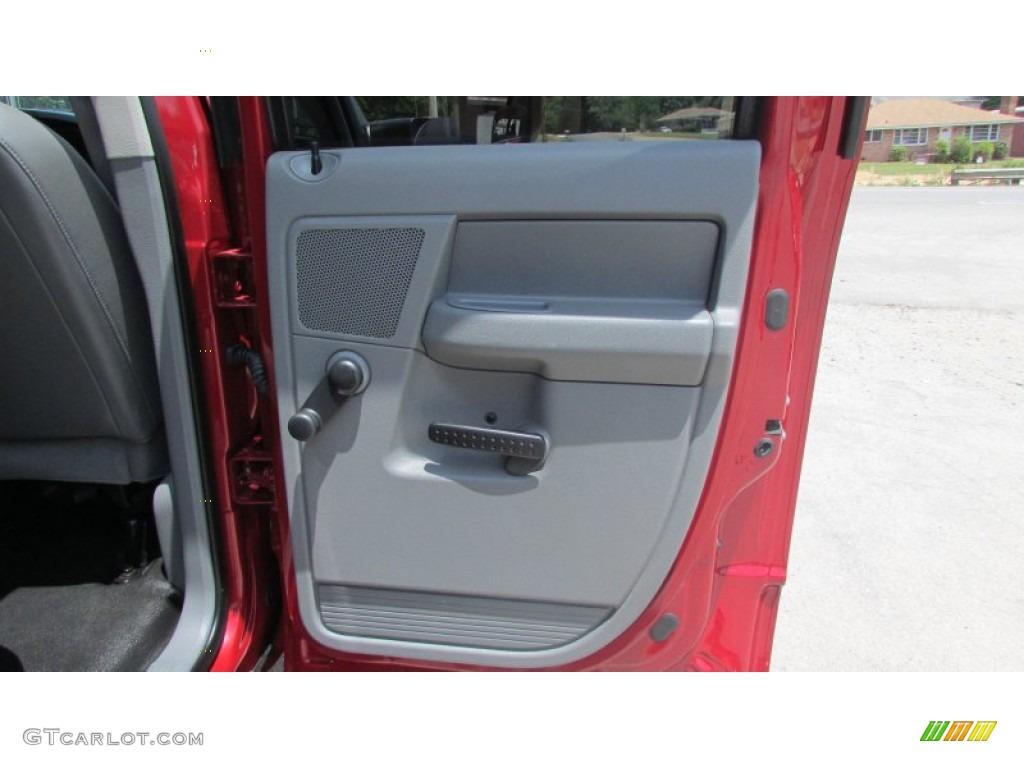 2008 Ram 3500 SLT Quad Cab 4x4 Dually - Inferno Red Crystal Pearl / Medium Slate Gray photo #71
