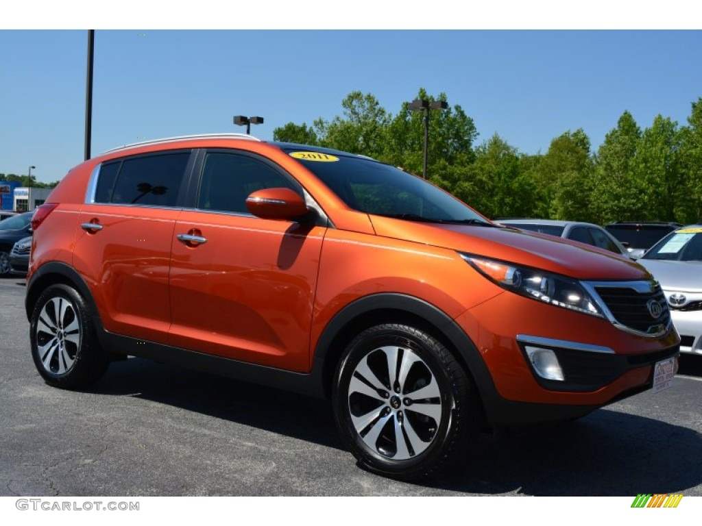 2011 techno orange kia sportage ex 93289045 car color galleries. Black Bedroom Furniture Sets. Home Design Ideas