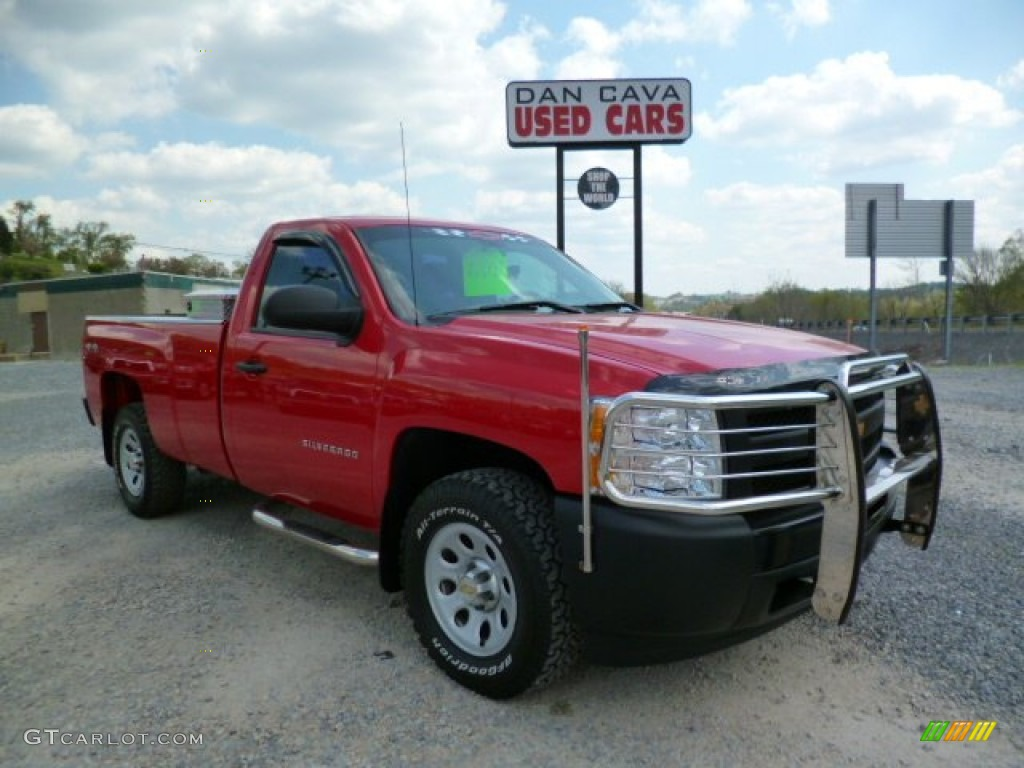 2012 Silverado 1500 Work Truck Regular Cab 4x4 - Victory Red / Dark Titanium photo #1