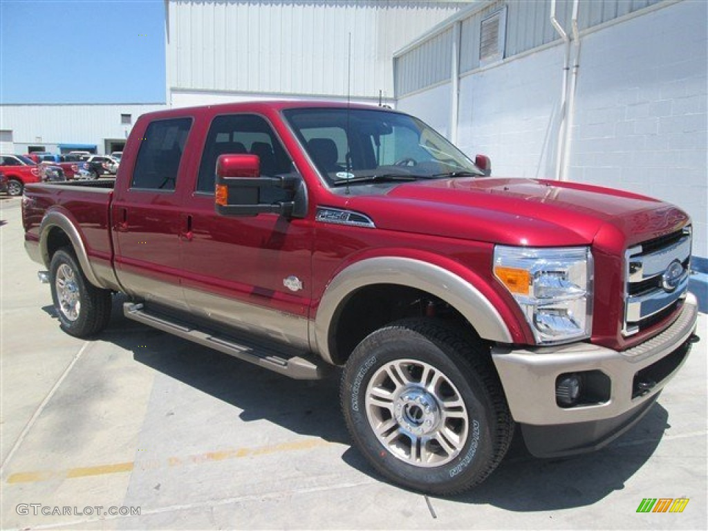 2014 ruby red metallic ford f250 super duty king ranch crew cab 4x4 93401590. Black Bedroom Furniture Sets. Home Design Ideas