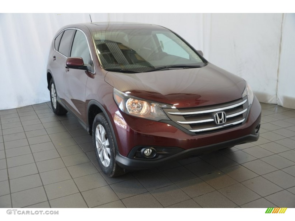 2014 CR-V EX - Basque Red Pearl II / Gray photo #1