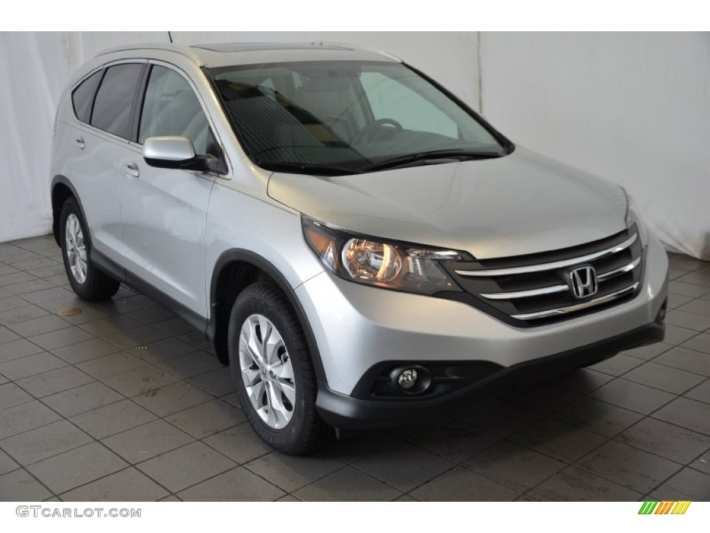 2014 CR-V EX AWD - Alabaster Silver Metallic / Black photo #1