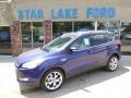 2014 Deep Impact Blue Ford Escape Titanium 2.0L EcoBoost 4WD  photo #1