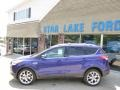 2014 Deep Impact Blue Ford Escape Titanium 2.0L EcoBoost 4WD  photo #7