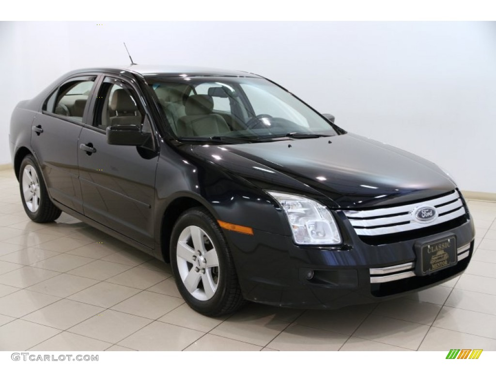 2008 Dark Blue Ink Metallic Ford Fusion Se 93440605