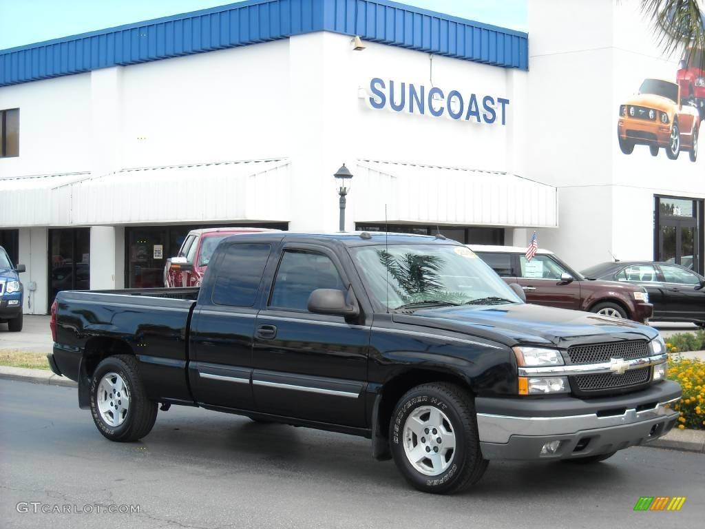 2004 black chevrolet silverado 1500 lt extended cab 9333453 car color galleries. Black Bedroom Furniture Sets. Home Design Ideas