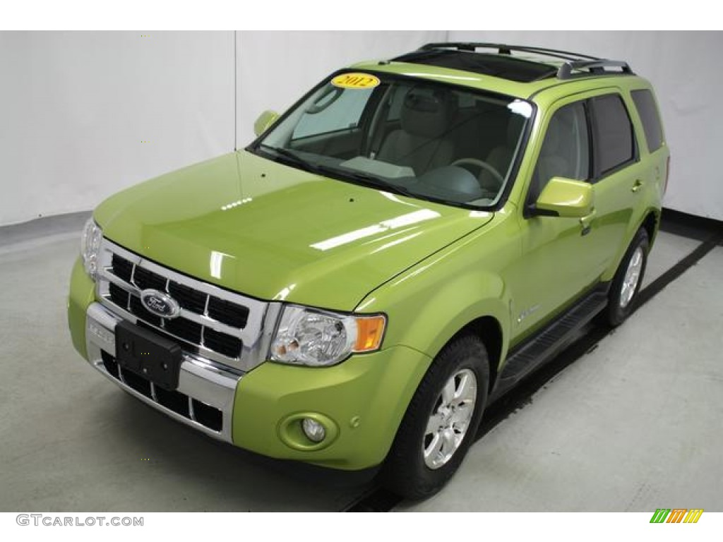Lime Squeeze Metallic Ford Escape Hybrid Limited