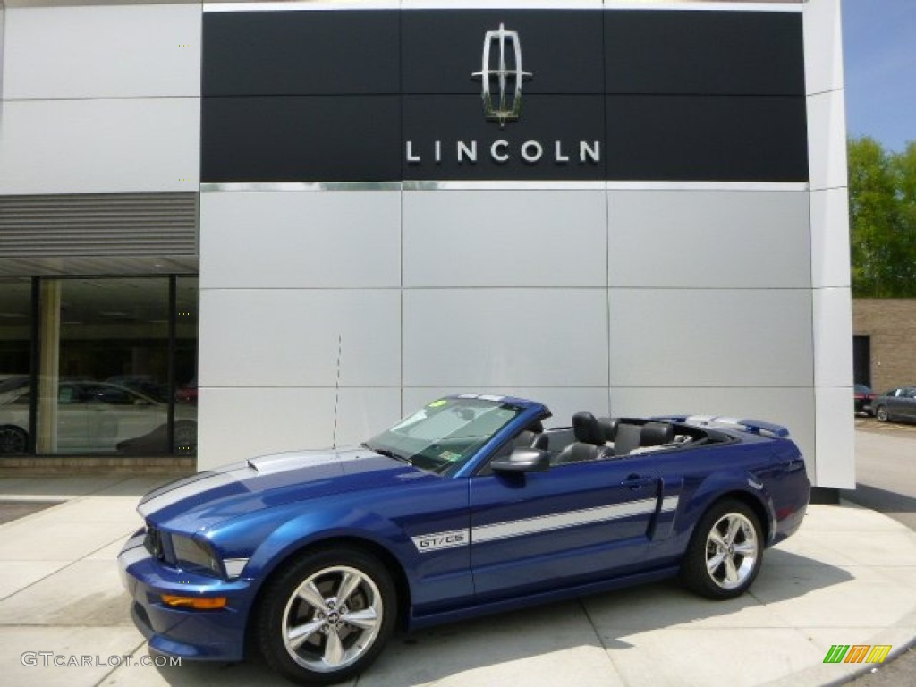 2007 Mustang GT/CS California Special Convertible - Vista Blue Metallic / Black/Dove Accent photo #1