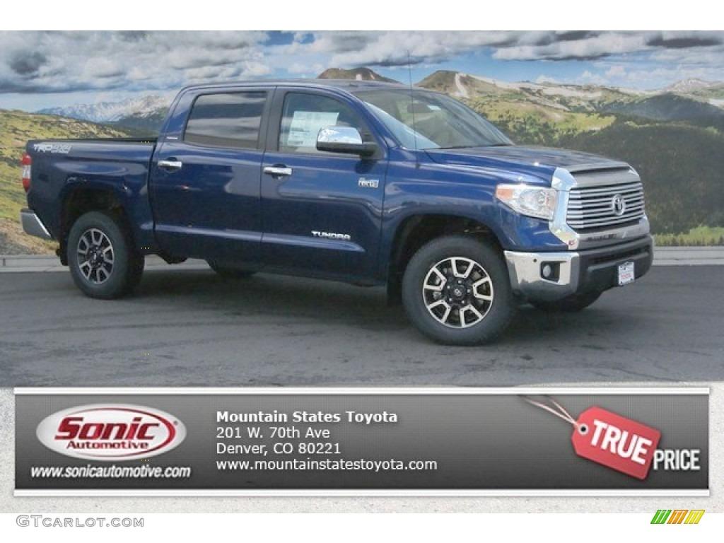 2014 Tundra Limited Crewmax 4x4 - Blue Ribbon Metallic / Black photo #1