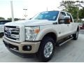 2012 White Platinum Metallic Tri-Coat Ford F250 Super Duty King Ranch Crew Cab 4x4 #93482686