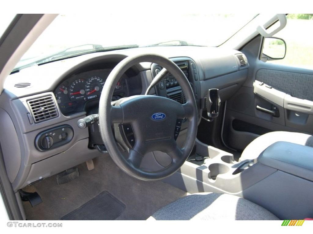 Graphite Grey Interior 2003 Ford Explorer XLS 4x4 Photo #93505298