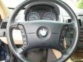 2004 BMW X3 Sand Beige Interior Steering Wheel Photo