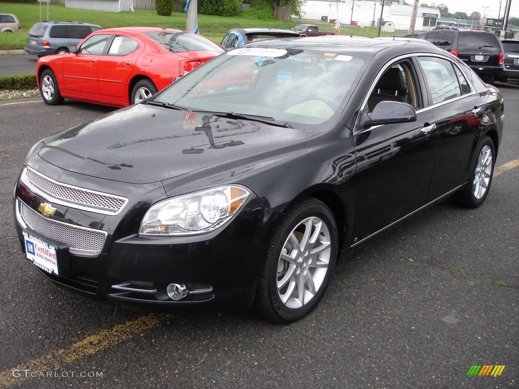 2009 black granite metallic chevrolet malibu ltz sedan. Black Bedroom Furniture Sets. Home Design Ideas