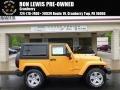 2012 Dozer Yellow Jeep Wrangler Sahara 4x4 #93523990