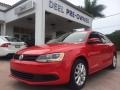 Tornado Red 2011 Volkswagen Jetta SE Sedan