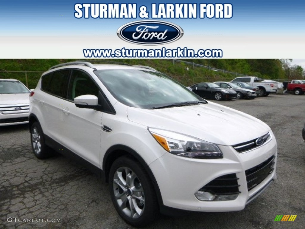 2014 Escape Titanium 2.0L EcoBoost 4WD - White Platinum / Charcoal Black photo #1