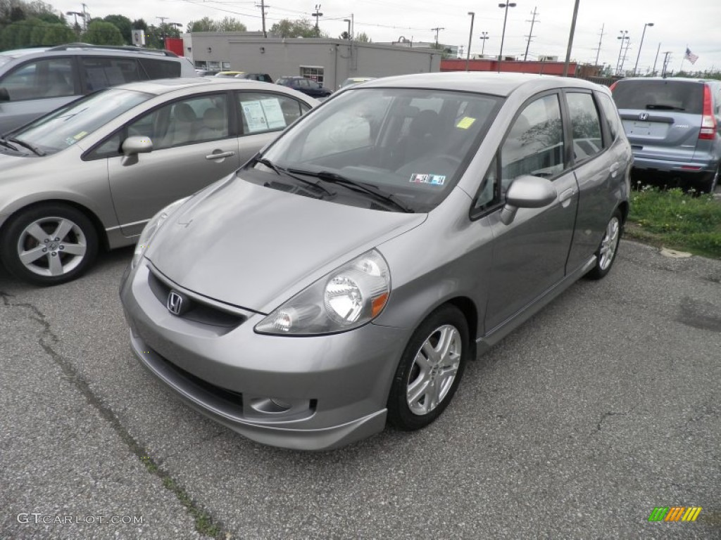 Storm Silver Metallic 2007 Honda Fit Sport Exterior Photo