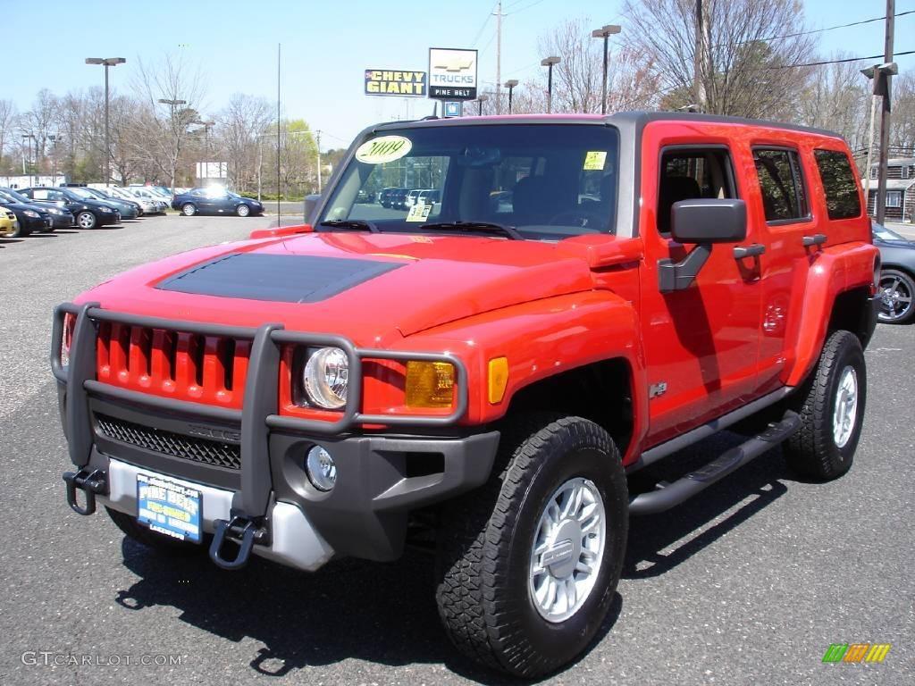2009 victory red hummer h3 9320049 car. Black Bedroom Furniture Sets. Home Design Ideas