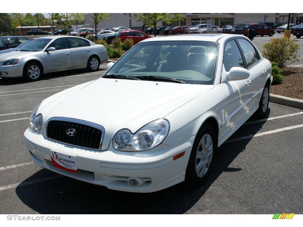 2005 Powder White Pearl Hyundai Sonata Gl 9335420