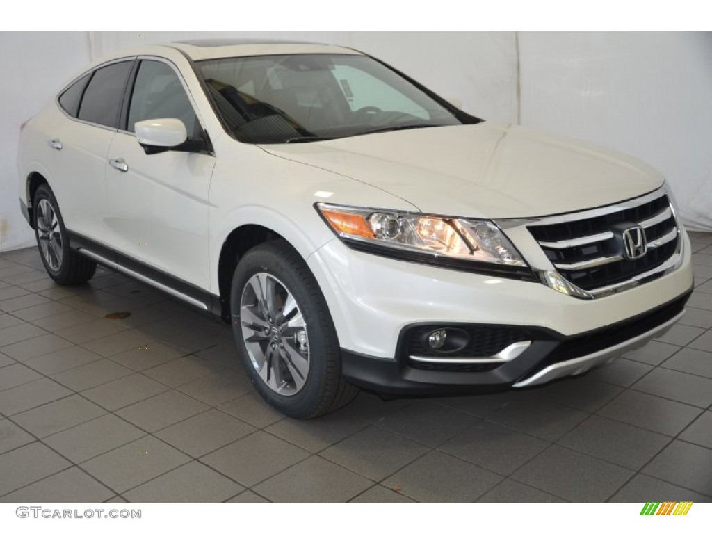 2014 white diamond pearl honda crosstour ex l v6 4wd. Black Bedroom Furniture Sets. Home Design Ideas