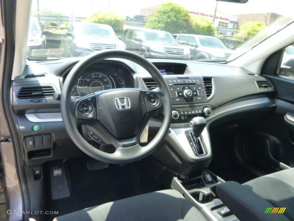 2012 CR-V LX 4WD - Urban Titanium Metallic / Black photo #17