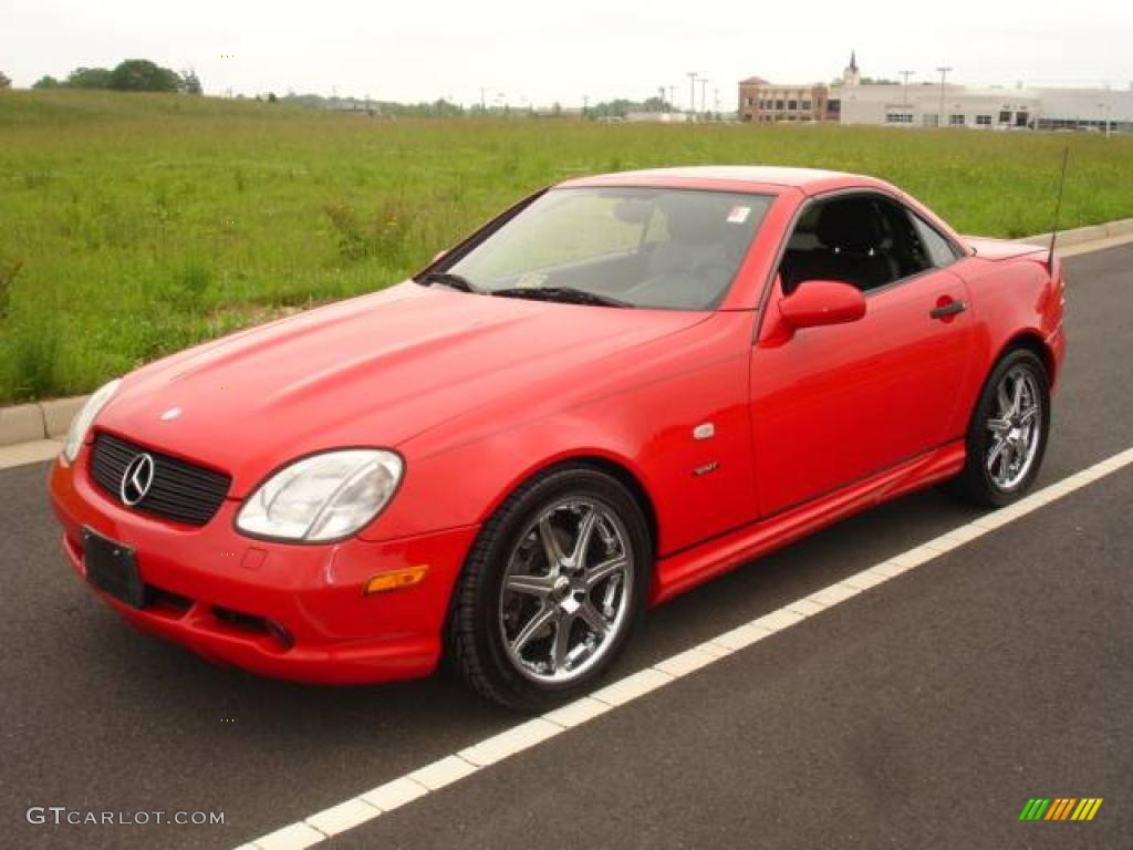 1999 magma red mercedes benz slk 230 kompressor roadster. Black Bedroom Furniture Sets. Home Design Ideas