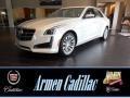 White Diamond Tricoat 2014 Cadillac CTS Luxury Sedan AWD