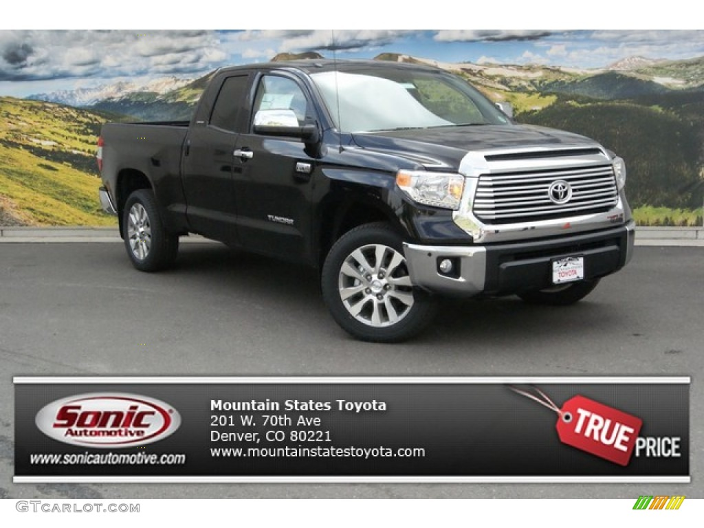 2014 Tundra Limited Double Cab 4x4 - Attitude Black Metallic / Sand Beige photo #1