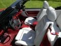 1987 Ford Mustang White Interior Front Seat Photo