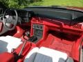 1987 Ford Mustang White Interior Dashboard Photo