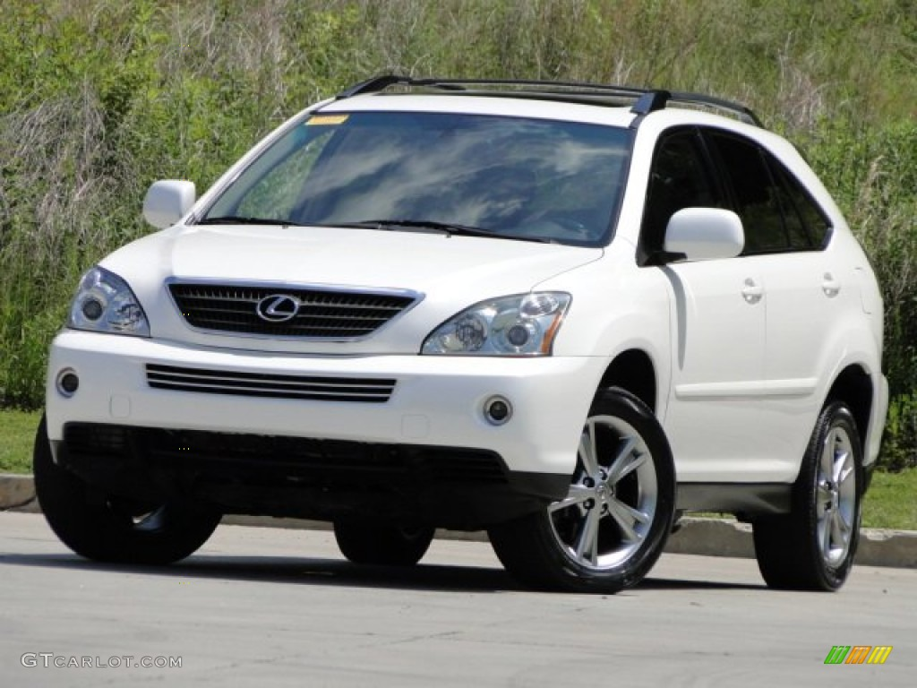 crystal white pearl 2006 lexus rx 400h awd hybrid exterior photo 93753998. Black Bedroom Furniture Sets. Home Design Ideas